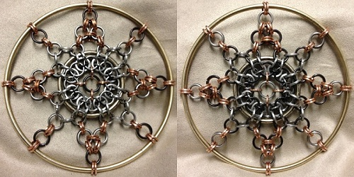 Compass Star, Light and Dark Window/Wall hanging