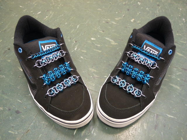 Black and Blue Vans
