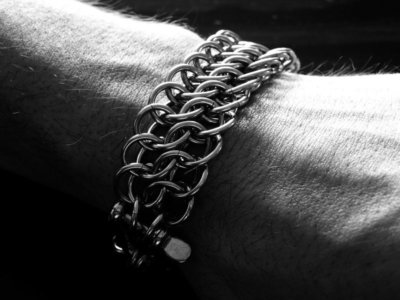 Stainless Steel Half Persian 3 in 1 Sheet 5 Bracelet