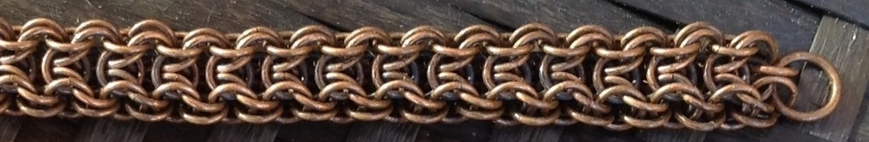 Elfweave with a Border - Patinated Bronze Bracelet