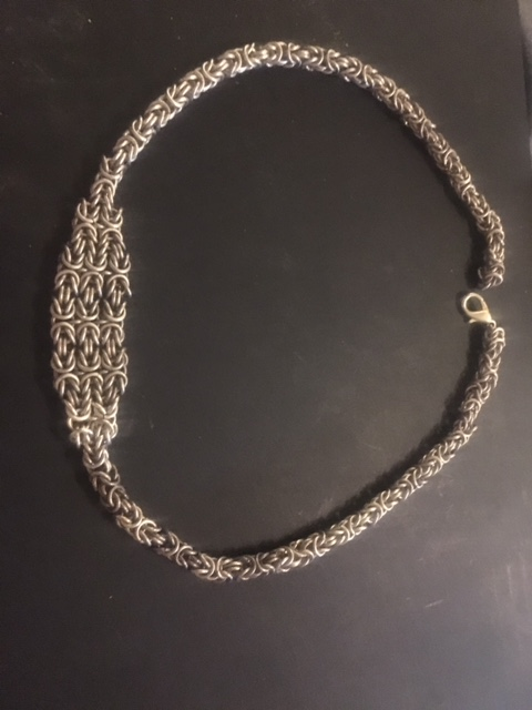 A heritage to inherit - the finished necklace (unpolished)