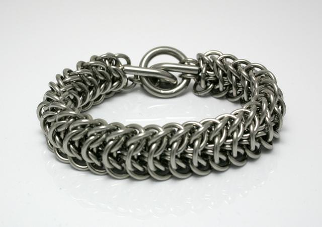 Stainless Bracelet Interwoven Weave