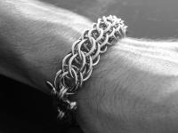 Stainless Steel Double Half Persian 3 in 1 Bracelet